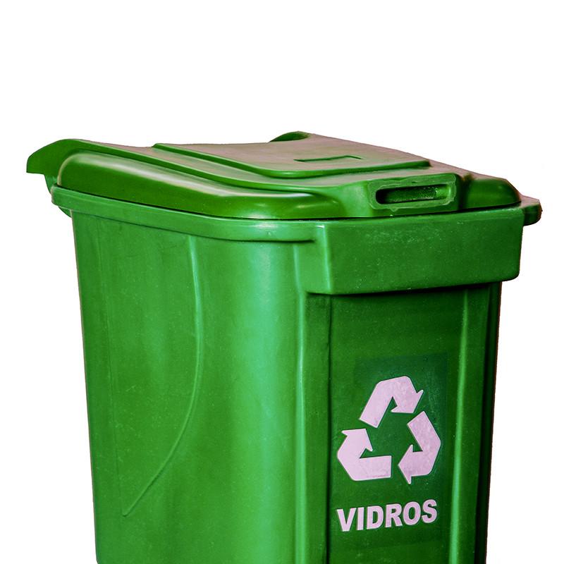 Coletor reciclado plastico ecologico verde tipo lixeira coleta seletiva  Natural Limp