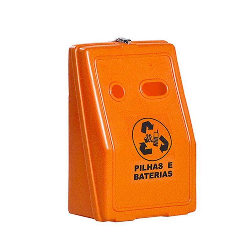 Coletor para Pilhas e Baterias Laranja CONAMA Reciclagem Preço
