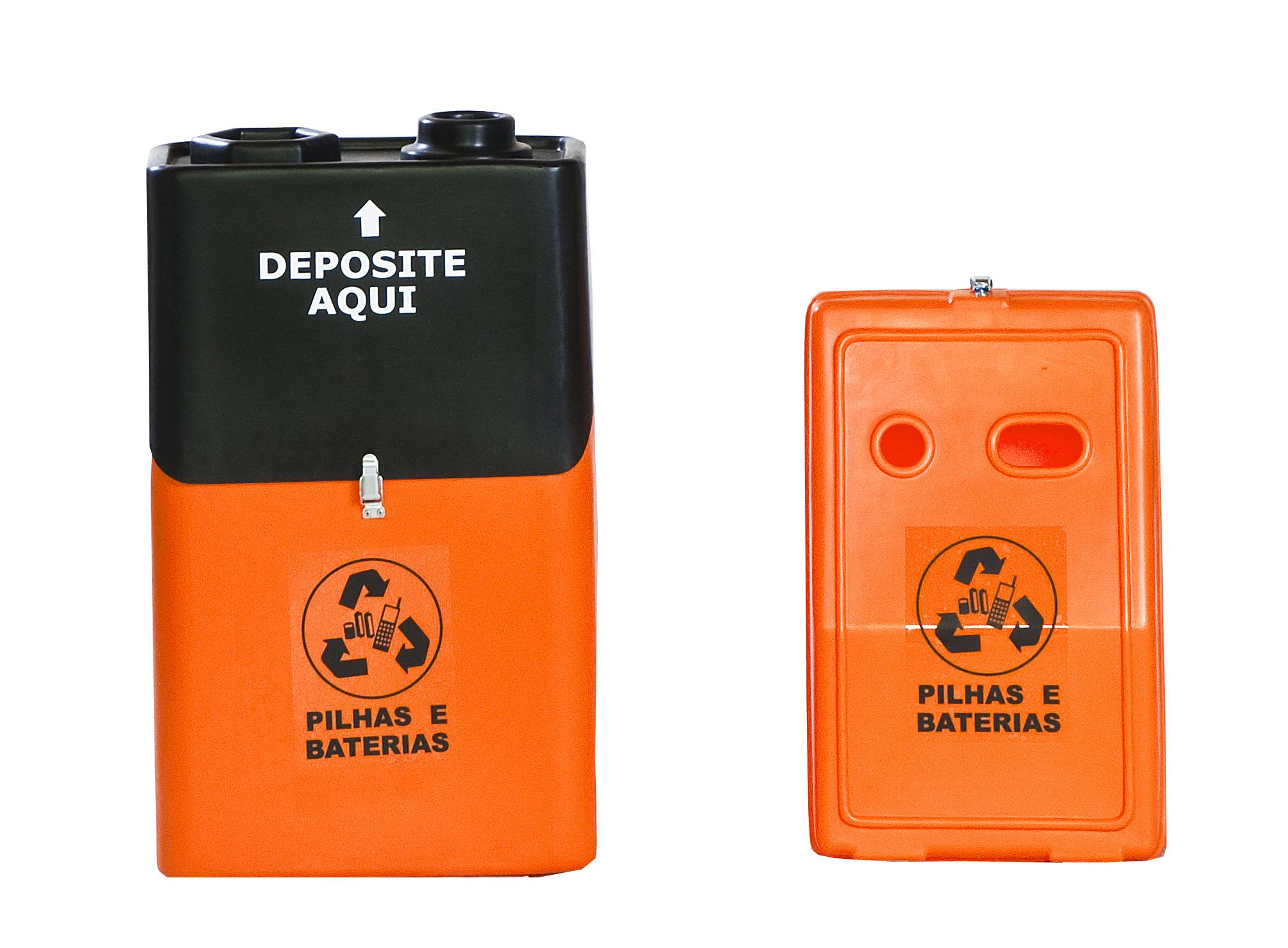 Coletor pilhas e baterias lixeira seletiva para escritorio Natural Limp