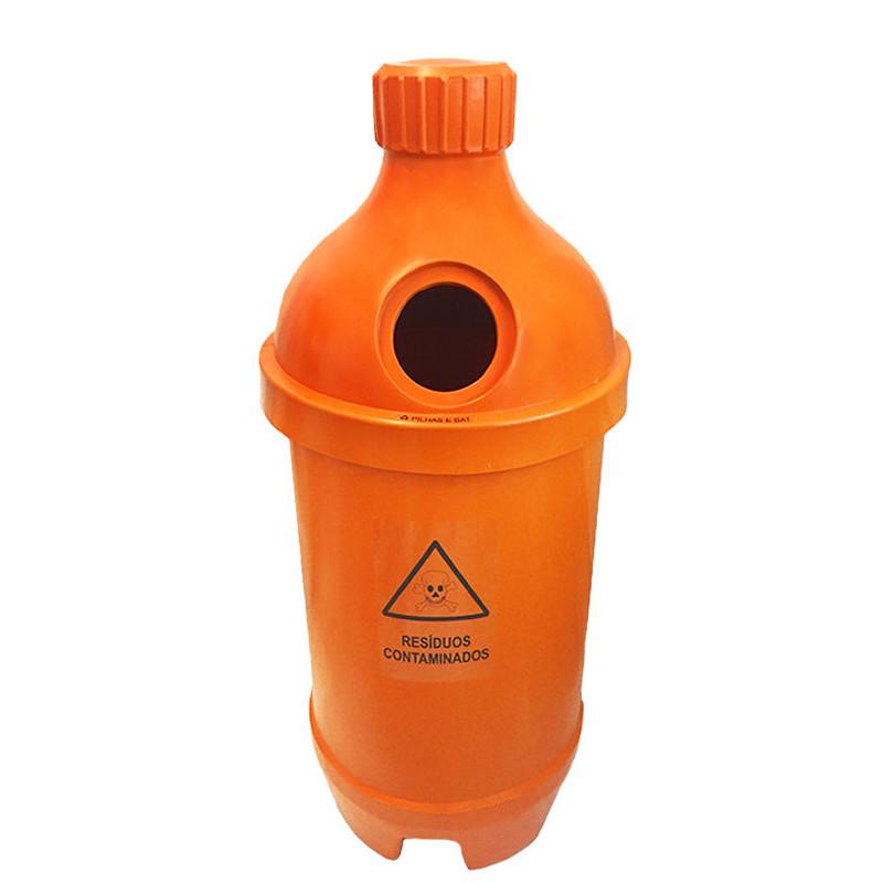 Coletor para pilhas e baterias modelo garrafa 200 litros