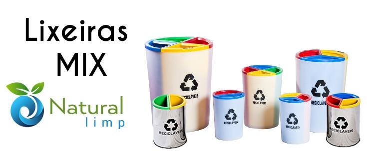 Natural Limp - Conheça as novas lixeiras MIX!