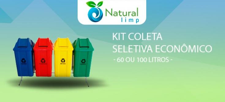 Natural Limp - Kit Coleta Seletiva com Suporte CSS-60 / CSS-100