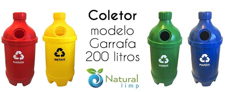 Natural Limp - Lançamento!! Coletor modelo Garrafa - 200 litros