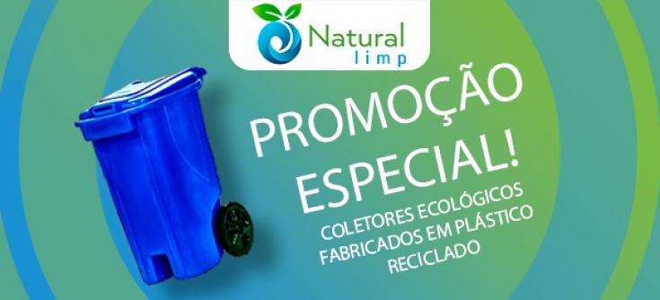 Natural Limp - Lixeiras e coletores reciclados em promoção!