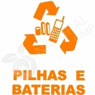 Natural Limp - Adesivo para coletor de pilhas e baterias