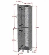 Natural Limp - Armário Ecológico para Vestiário Modelo 02 portas