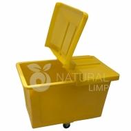 Natural Limp - Carro cuba 430 litros com rodas de borracha maciça e tampa