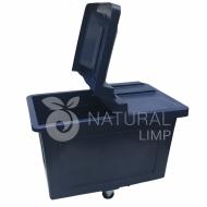 Natural Limp - Carro cuba 430 litros com rodas de poliuretano e tampa