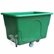Natural Limp - Carro cuba 430 litros com rodas de poliuretano sem tampa