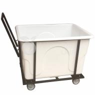 Natural Limp - Carro cuba 430 litros com suporte e rodas de borracha maciça sem tampa