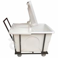 Natural Limp - Carro cuba 430 litros com suporte, rodas de poliuretano e tampa