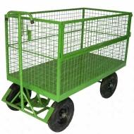Natural Limp - Carro de carga tipo plataforma fechado com tela