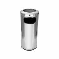 Natural Limp - Cinzeiro lixeira em aço inox com aro em aço inox
