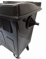 Natural Limp - Coletor de 700 Litros em Polietileno com Rodas BLACK