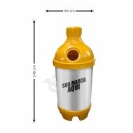 Natural Limp - Coletor para Coleta Seletiva modelo Garrafa 200 litros