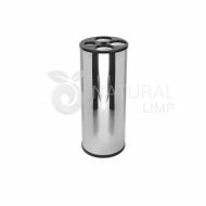 Natural Limp - Coletor para copos com 4 tubos - Inox (redondo)