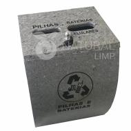 Natural Limp - Coletor para pilhas, baterias e celulares modelo ECO - 30 litros