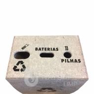 Natural Limp - Coletor para pilhas, celulares e baterias modelo ECO - 60 litros