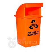 Natural Limp - Coletor para pilhas e baterias abertura frontal - 60 litros
