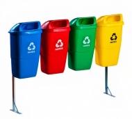 Natural Limp - Conjunto de Lixeiras com Suporte - Modelo Papeleira (50 litros cada)