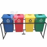 Natural Limp - Conjunto para coleta seletiva com tampa personalizada - 60 litros