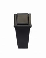 Natural Limp - Lixeira com tampa basculante Reforçada - 100 litros BLACK