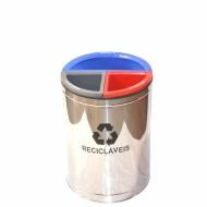 Natural Limp - Lixeira MIX 3 em 1 Inox Modelo Exclusivo - 50 litros
