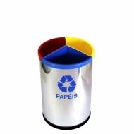Natural Limp - Lixeira MIX Inox 3 em 1 - 30 litros
