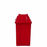 Natural Limp - Lixeira plástica com tampa vai e vem - 60 litros